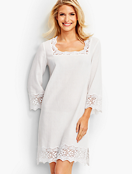 Lace-Trimmed Cover-Up