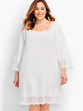 Womans Lace-Trimmed Cover-Up