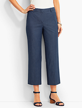 Talbots Chelsea Wide-Leg Crop-Chic Denim