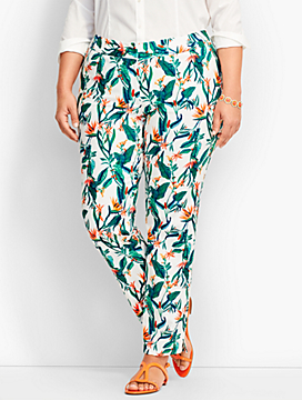 Talbots Hampshire Ankle Pant-Birds-of-Paradise Print
