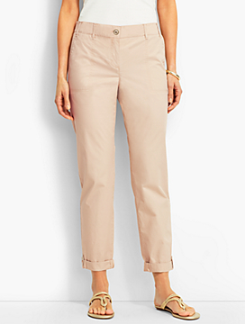 Button-Tab Roll-Cuff Pant