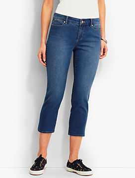 The Flawless Five-Pocket Crop-Beacon Wash