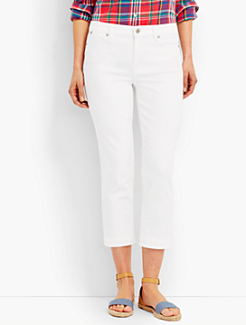 The Flawless Five-Pocket Crop-Colored