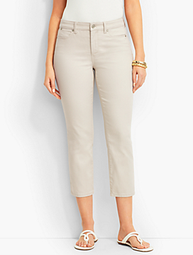 The Flawless Five-Pocket Colored Crop-Curvy