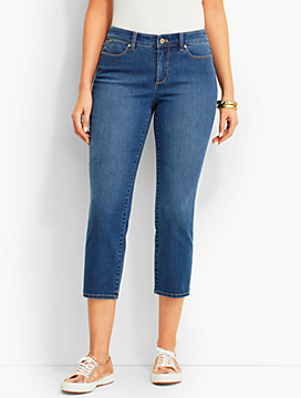 The Flawless Five-Pocket Crop-Curvy Fit/Beacon Wash