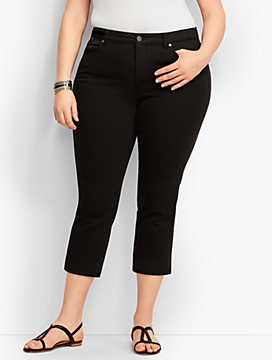 The Flawless Five-Pocket Crop- Black
