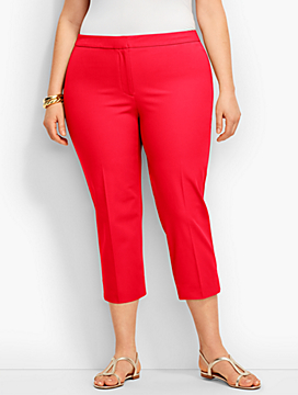 Womans Talbots Cotton Bi-Stretch Crop