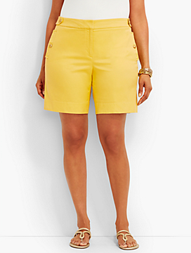 Womans Exclusive Gold-Button Short