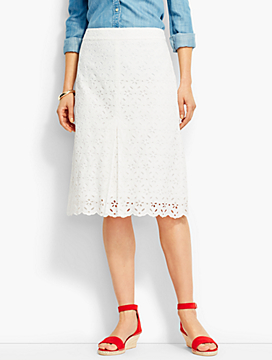 Flowers & Vines Eyelet Skirt
