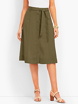 TENCEL® Button-Front Skirt