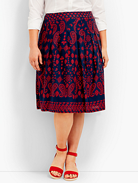 Bandana Paisley Pleated Skirt