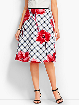 Tulip & Plaid Full Skirt