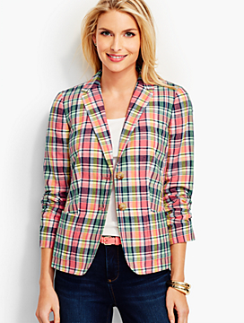 Madras Plaid Blazer
