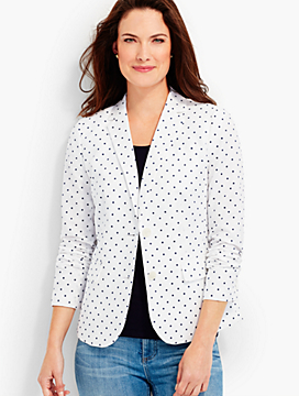 Embroidered Dot Blazer