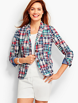 Patchwork Plaid Blazer