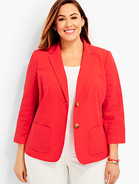 Circle-Embroidered Blazer