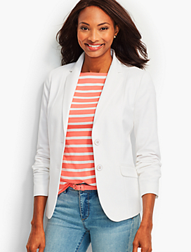 Cotton Double-Weave Blazer