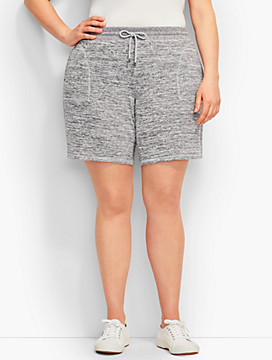 Marled Jersey Short