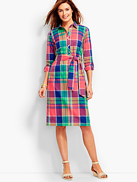 Punch Bowl Plaid Shirtdress