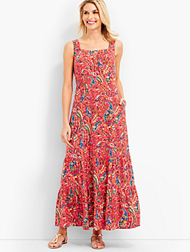 Paisley Tiered Maxi Dress
