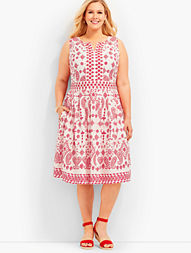 Bandana Paisley Fit-And-Flare Dress