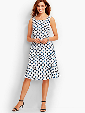 Water Dots Tiered Sundress
