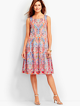 Playful Paisley Dress