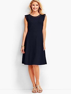Edie Lace-Trimmed Fit-and-Flare Dress