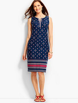 Bandana Paisley Shift Dress