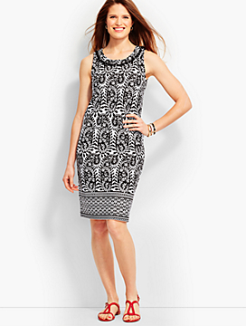 Paisley Knit Sheath Dress