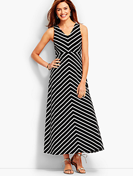 Valencia Stripes Halter Dress