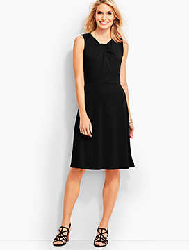 Twist-Front Fit-And-Flare Dress