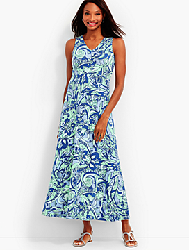 Prancing Paisley Halter Dress