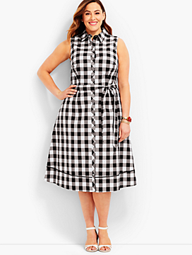 Woman Exclusive Gingham Shirtdress