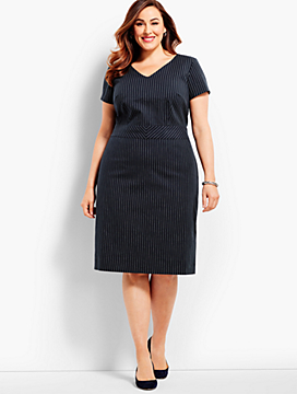 Woman Exclusive Bryton Pinstripe Sheath Dress