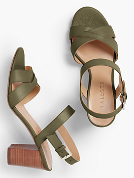 Bettie Cross-Strap City Sandals