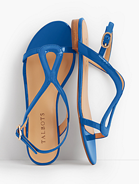 Keri Keyhole Sandals - Patent Leather