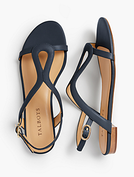 Keri Keyhole Sandals - Soft Leather