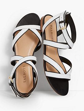 Keri Crisscross Ankle-Strap Sandals