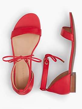 Sailor Tie-Strap Sandals-Soft Leather