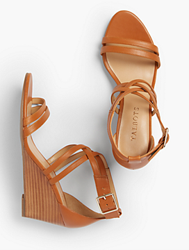 Vivian Double-Strap Wedges