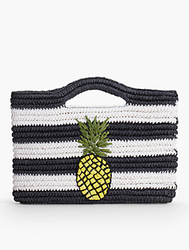 Crocheted Straw Pineapple Bag