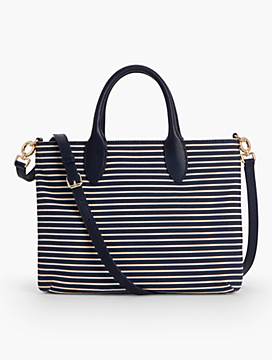 Crossbody Bag-Cotton Canvas Stripes
