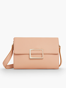 Buckle-Flap Shoulder Bag