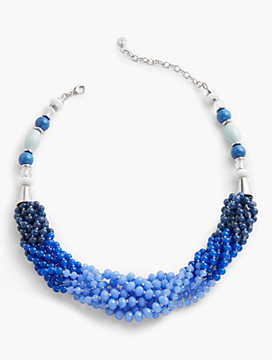 Mixed-Bead Twist Necklace