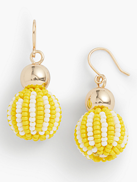 Seed-Bead Drop Earrings