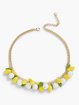 Lemon Bead Necklace