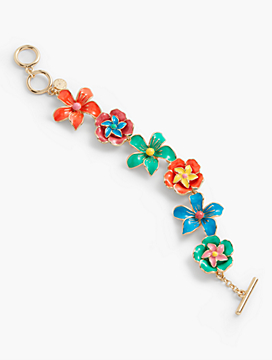 Tropical Flower Bracelet