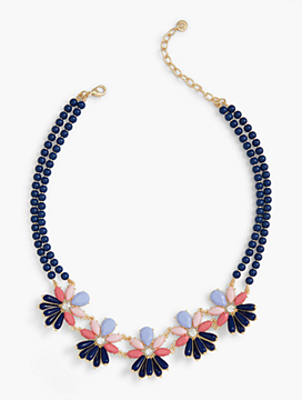 Bead Flower-Burst Necklace