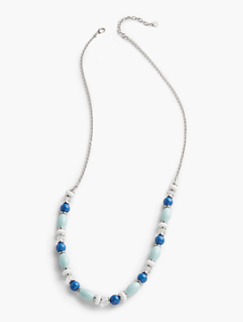 Mixed-Bead & Link Necklace